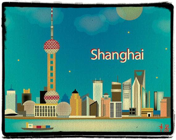 Lo skyline di Shangai visto da Karen Young