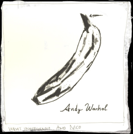 Buccia di banana d'autore (www.handdrawnalbumcovers.com/)