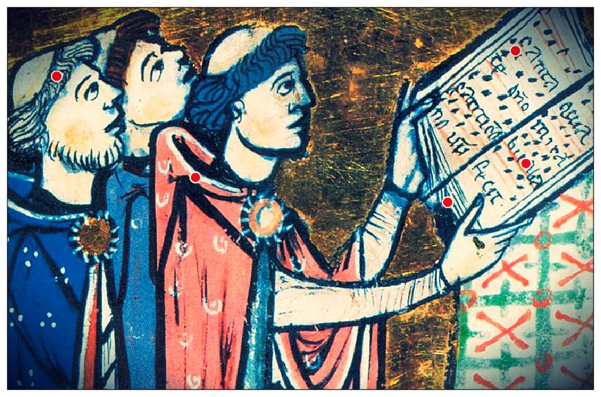 """I monaci si dedicavano esclusivamente al lavoro (sia manuale, sia intellettuale, come la trascrizione di antichi testi) e alla preghiera: anche il canto era una forma di """"comunicazione"""" con Dio."""