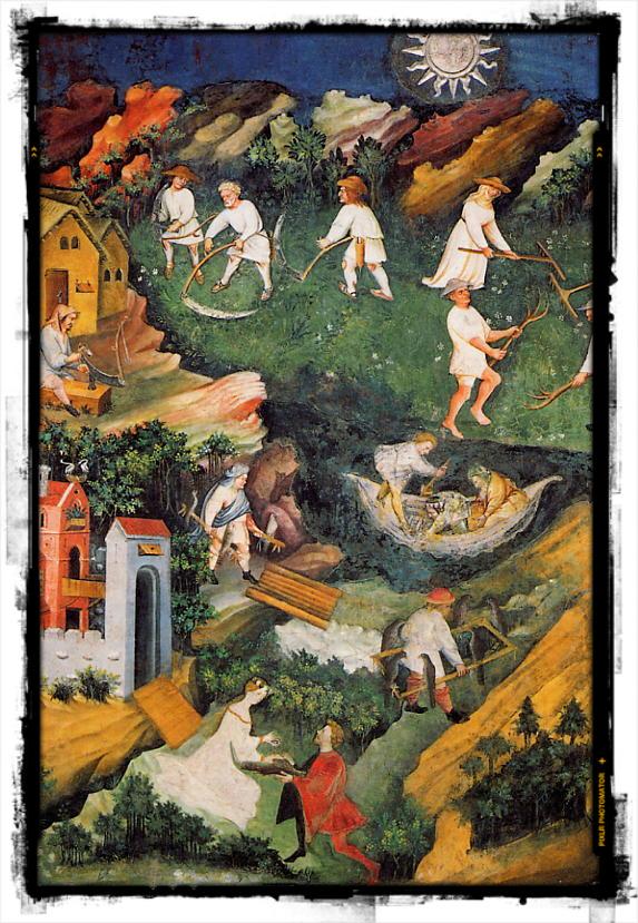 Il ciclo dei mesi presso la Torre dell'Aquila del Castello del Buonconsiglio (Trento): luglio.