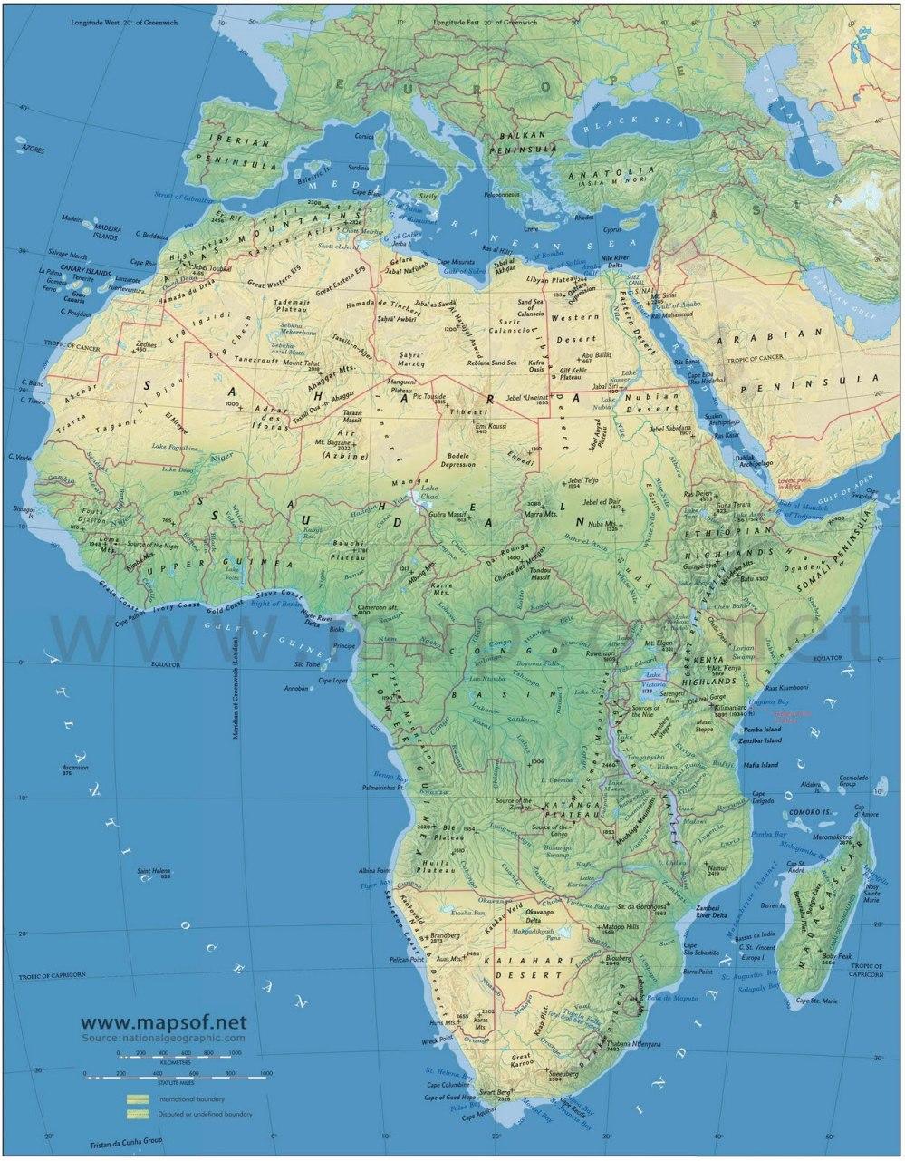 Cartina Fisica Muta Dell Africa.L Africa La Scuola Di Zio Gustavo